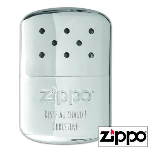 Chauffe-Mains 12H Zippo Chrome Personnalisable pour  Zephyr personn...