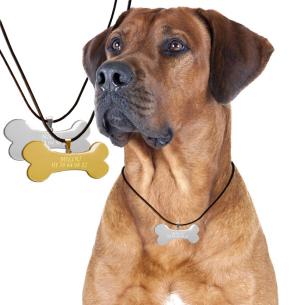 Pendentif Os Argenté Personnalisable pour son chien