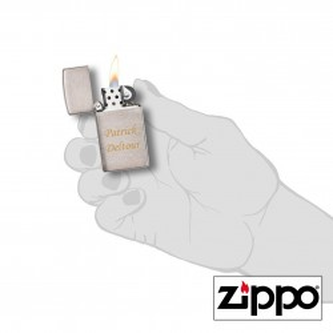 Briquet Zippo SLIM® Satiné Personnalisable pour  Zephyr personnalis...