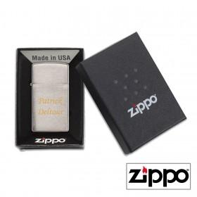 Briquet Zippo SLIM® Satiné Personnalisable