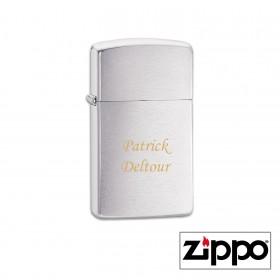 Briquet Zippo SLIM® Satiné Personnalisable avec un texte