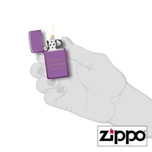 Briquet Zippo SLIM® Violet Brillant