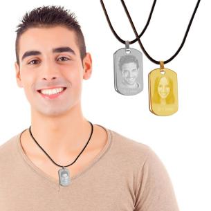 bijou pendentif plaque - existe en doré et argente
