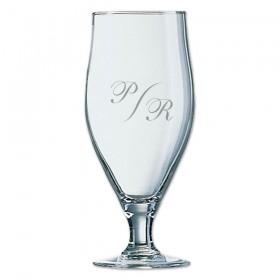 verre à bière personnalisable avec des monogrammes