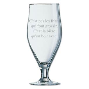 verre à bière de 50 cl personnalisé avec texte