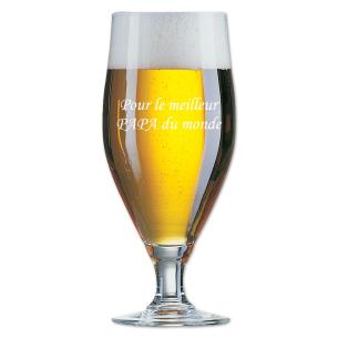 Verre à bière gravé de la phrase de votre choix
