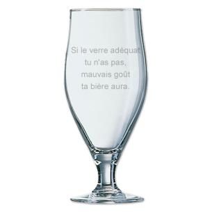 Pinte de bière personnalisée avec texte