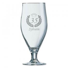 verre à bière personnalisé avec âge et prénom - cadeau d'anniversaire parfait