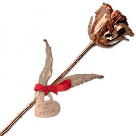 rose cuivrée personnalisée avec texte