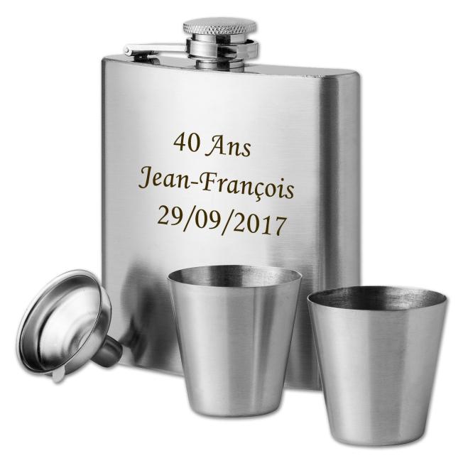 Coffret Flasque Texas Personnalisable pour  Cette flasque personnal...