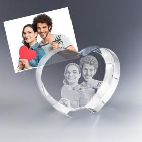 Coeur photo 3D - Idéal cadeau de mariage ou déclaration d'amour