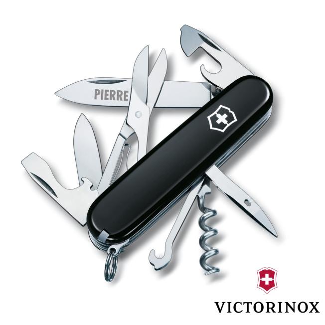 Couteau Climber Victorinox 15 fonctions Noir Personnalisable