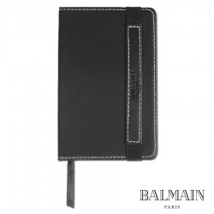 Coffret Balmain Stylo à Bille et Bloc-Notes Noir, Personnalisable p...