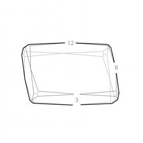Dimensions du bloc verre facette photo