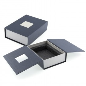 Coffret cadeau bloc en verre personnalisé avec photo