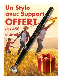 Un stylo avec support OFFERT dès 45€ d'achats