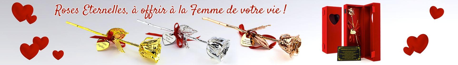 Pour la Saint-Valentin, Offrez la Rose personnalisée qui plaira le plus à l'élue de votre Coeur