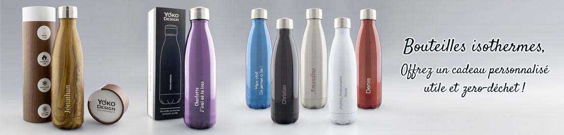 Les bouteilles Isothermes, une Idée Cadeau utile, personnalisé et zero-déchet
